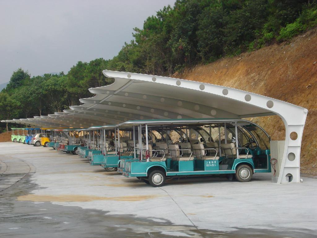 钢结构车棚_钢结构车雨棚