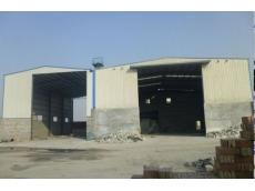 钢结构车间:衡水赵圈金工建材白灰车间24m×20m×9m