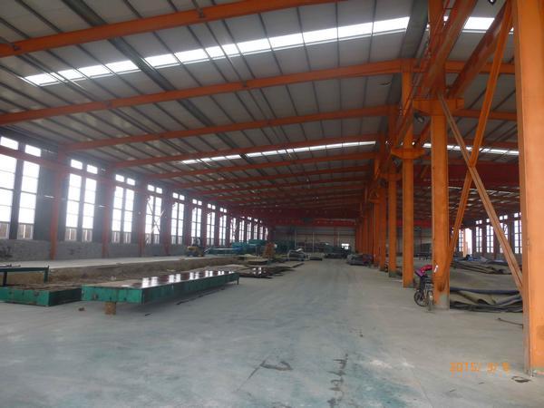 恒洋工程橡胶公司钢结构车间106米x43米x8米+10T