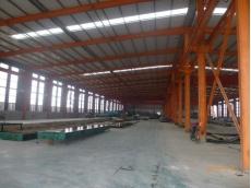 钢结构车间:恒洋工程橡胶公司车间106米x43米x8米+10T